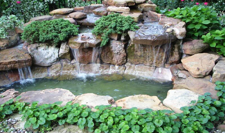 Landscape Waterfall Pond Features Franklin Tn Bloom